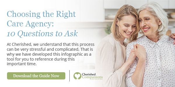 Choosing the right care agency infographic